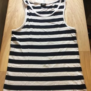 H&M Blue & White Tank Top